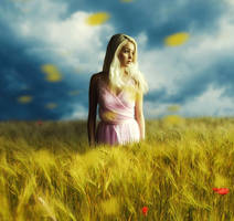 Girl in the field by Ilya-root
