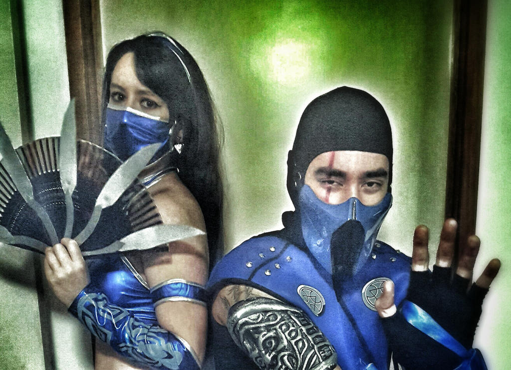 Sub Zero and Kitana by SamiEggPower