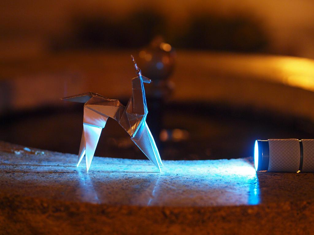 Blade Runner Origami Unicorn Pin: Blade Runner Origami Unicorn And A Flashlight By Len