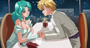 Haruka and Michiru dinner
