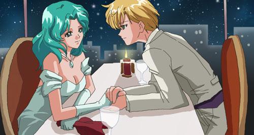 Haruka and Michiru dinner by taichikun14