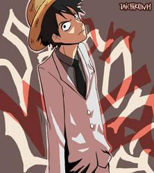 White suit Luffy by taichikun14