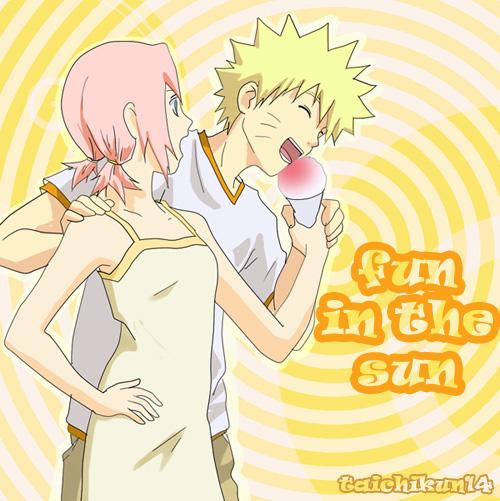 NaruSaku Fun in the Sun entry by taichikun14