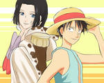 Luffy and Boa Hancock