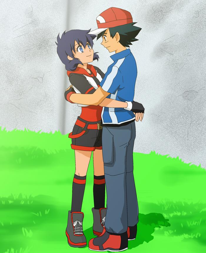 Sarha and Satoshi for Skydrew by taichikun14