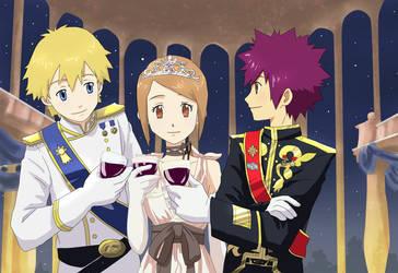 Takeru, Hikari, and Daisuke for NanaMocchy by taichikun14