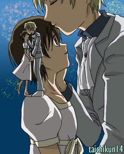 Tamaki x Haruhi  Hanabi Kiss by taichikun14Haruhi And Tamaki Hug