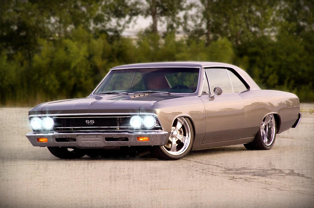 1966 Chevrolet Chevelle SS 'Stanced Perfection' by lordcleric