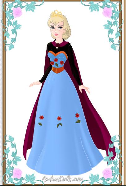 Elsa Frozen paper doll coronation dress movie by Lady--knight