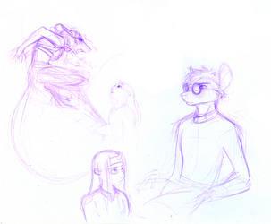 Prydwen Development Sketches by ladyfoxglove