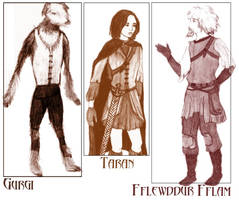 Some Prydain Chars by WanderingGeomancer