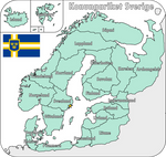 Map of the Swedish Empire