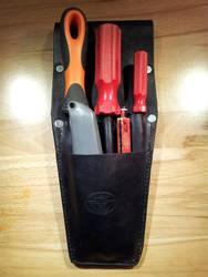 Custom Leather tool belt pouch by siegeandspike
