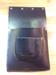 Custom Leather Tool Belt -  large pouch (1) by siegeandspike