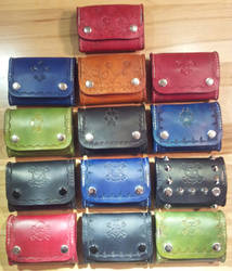 Leather Coin Pouches by siegeandspike