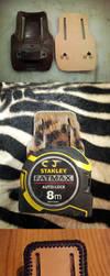 Custom Leather Tape measure holder by siegeandspike