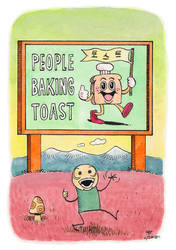 Postcard 47: People Baking Toast