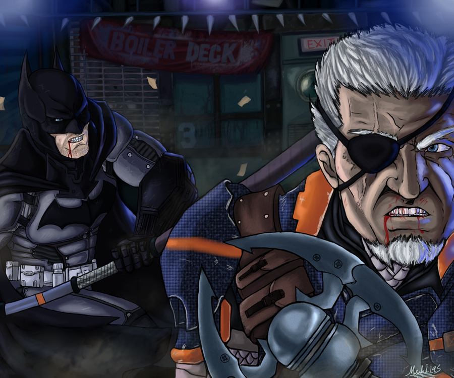 Batman Vs Deathstroke By Johnni Kun