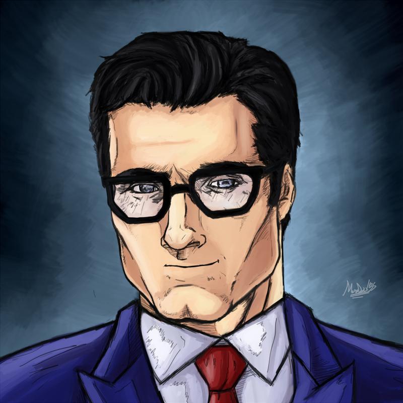 This is a graphic of Gargantuan Clark Kent Drawing
