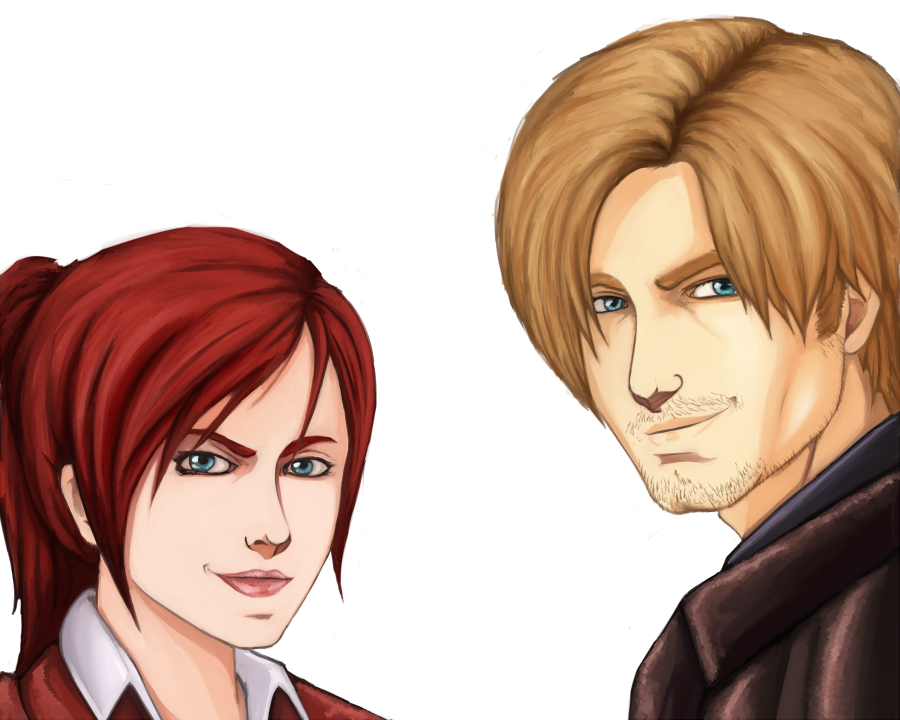 Claire and Leon. by Johnni-Kun