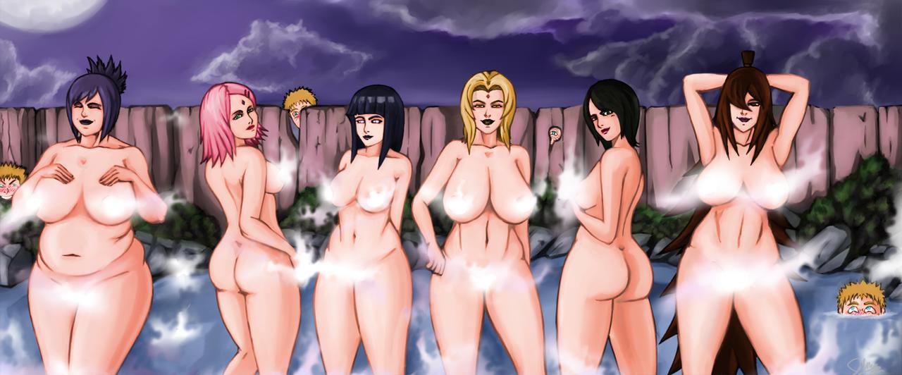 Ultimate Ninja hot spring by Johnni-Kun