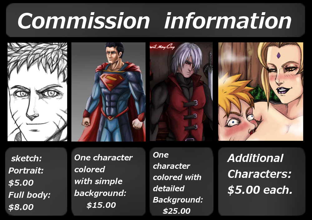 COMMISSIONS info. by Johnni-Kun