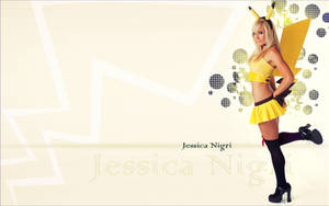 Jessica Nigri wallpaper as pikachu by colorpilot