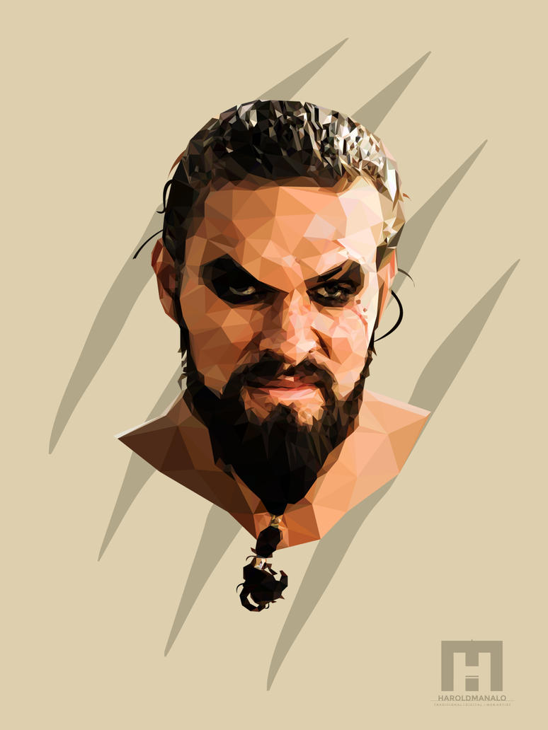 Low poly | Khal Drogo | Game of Thrones by haroldmanalo