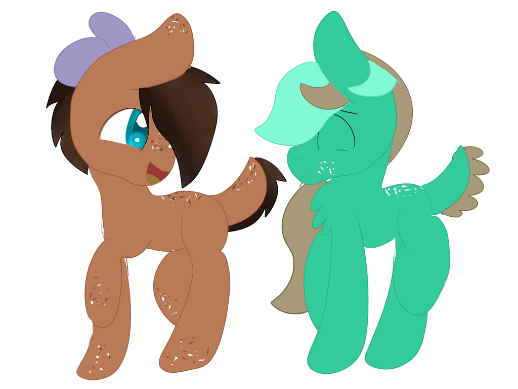 Chocolate Chip and Mint Chip by warriorcatsgeek