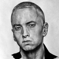 Eminem drawing by Cleicha