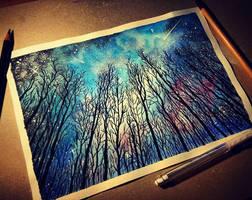 Sky at night by Cleicha