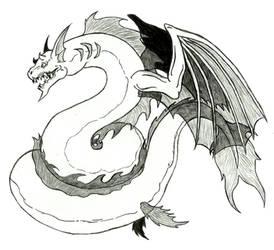 Slayers - Lesser Sea Dragon by Ultima-the-RedWyrm