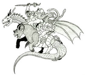 Slayers - Chimera - Mutated Mad Scientist by Ultima-the-RedWyrm