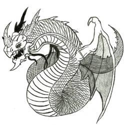Slayers - Aeriju-Dorah, Serpent of the Storm by Ultima-the-RedWyrm
