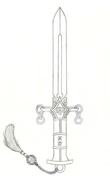 Murakumo, the Sword of Gathering Clouds (Sketch)
