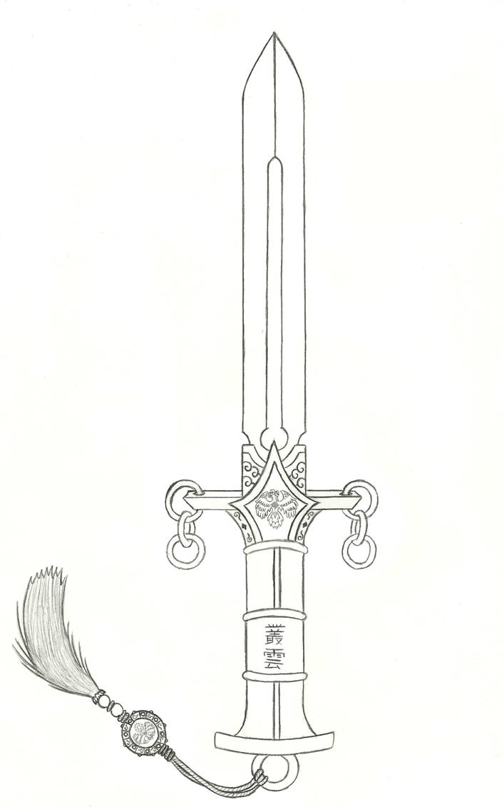 Murakumo, the Sword of Gathering Clouds (Sketch) by Ultima-the-RedWyrm