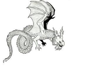 Oriental Wyvern (Sketch)