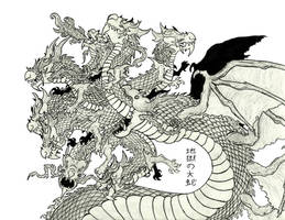 Jigoku no Orochi, the Eight-Headed Demon King