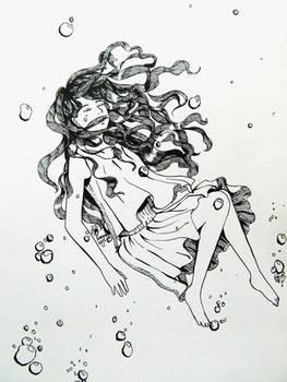 Drowning- Inktober Day 4: Underwater