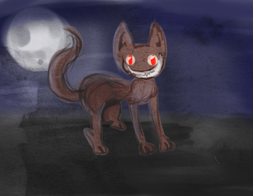 Halloween cat by Kuuurek