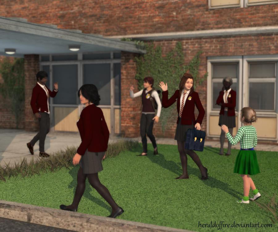 Schoolyard by HeraldOfFire