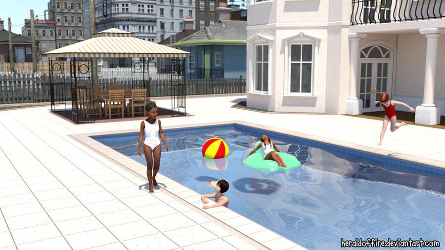 Poolside (Iray) by HeraldOfFire