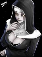 The Nun Fanart by Hibren