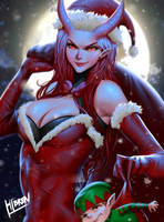 Christmas succubus by Hibren
