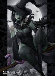 Witch Halloween night!