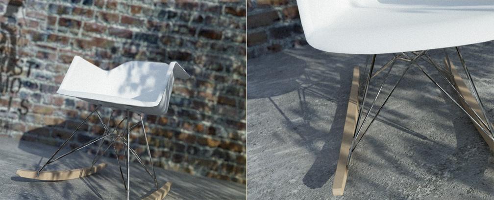 Eames Molded Plastic  Rocker by spoudastis