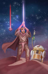 Kevin The Drunk Jedi by luminousfish