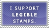 Legible Stamps FTW by MatrissStamps