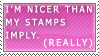 I AM Nice by MatrissStamps