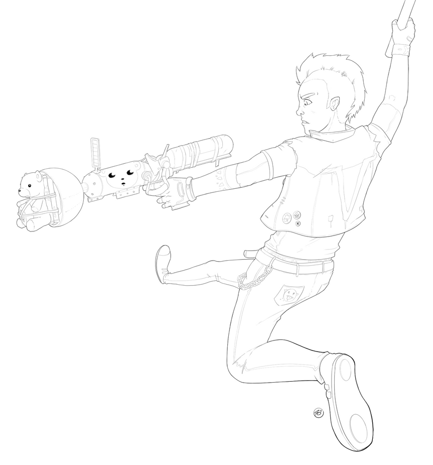 Sunset Overdrive!!! (lines wip) by EzJedi